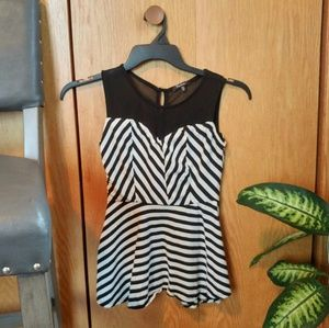 Monteau Striped Tank Top